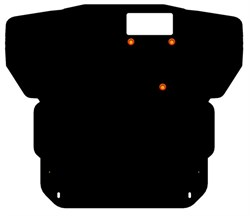 Защита картера и КПП Kiа Sephia 1,5-1,8 1997- 2001 - фото 4773