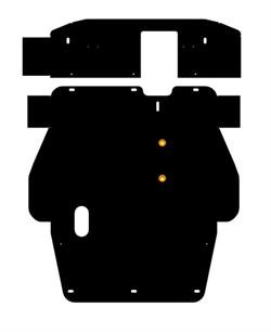 Защита картера и КПП Mitsubishi Galant сборка USA ( 2 части) 2,5  2002-2007 - фото 5730
