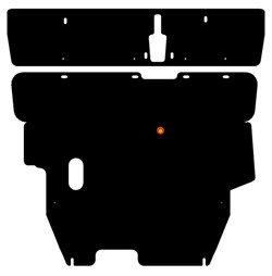 Защита картера и КПП Mitsubishi Mirage Dingo 2 части 1,5  1998-2003 - фото 5766
