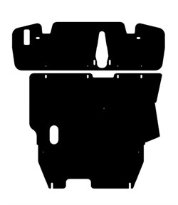 Защита картера и КПП Mitsubishi Outlander  1-ая часть  2003-2006 - фото 5773