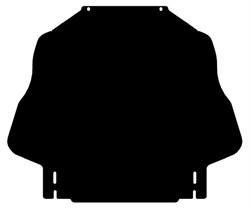 Защита КПП  Mitsubishi Pajero IV   2006- - фото 5785