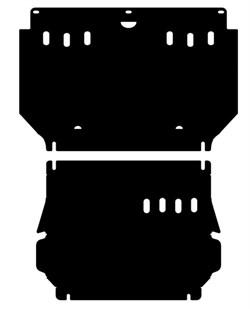 Защита редуктора переднего моста  Mitsubishi Pajero Sport  2008-2015 - фото 5790
