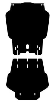 Защита КПП Mitsubishi Pajero Sport 2008-2015 - фото 5791