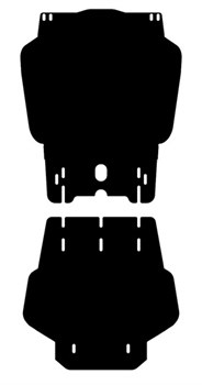Защита раздатки Mitsubishi Pajero Sport 2008-2015 - фото 5794