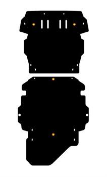 Защита картера  Mitsubishi  Pajero  Pinin  1,8; 2,0  1998 - 2003 - - фото 5807