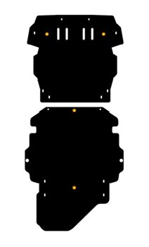 Защита КПП  Mitsubishi  Pajero  Pinin  1,8; 2,0  1998 - 2003 - - фото 5810