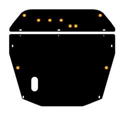 Защита картера и КПП Mitsubishi  Space Wagon    1-ая часть 2,0; 2,4  1998 - 2003 - фото 5841