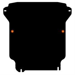 Защита картера и радиатора Nissan Navara  D40   2005-2015 - фото 5894