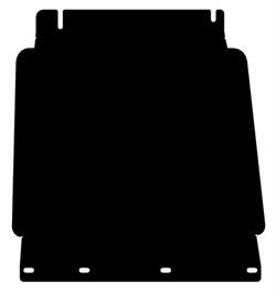 Защита КПП Nissan Navara  D40   2005-2015 - фото 5896