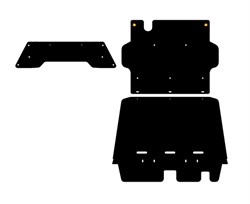 Защита  КПП Nissan  Patrol  Y61  2,8 TD  1997 - 2000 - фото 5900