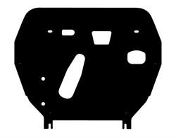 Защита картера и КПП Toyota Corolla  E140/E150  1,3  2007-2013 - фото 6517