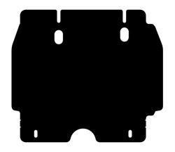 Защита картера Toyota Fortuner 2,7
