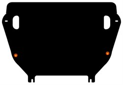 Защита картера и КПП Toyota Rav-4 IV    на пыльник  кроме 2,0  2010-2012 - фото 6675