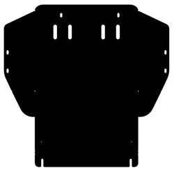 Защита картера и КПП  Volkswagen Golf  III  c гидроусилителем  1,4; 1,6  1991-1997 - фото 6718