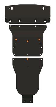 Защита радиатора, картера и АКПП Mercedes-Benz С-Сlass (W203 / C240) 2.6-3.2 2000-2007 (3 части) - фото 8490