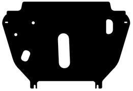 Защита картера и МКПП, АКПП GeelyEmgrand X7 2013-