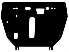 Защита  картера и КПП Lexus NX  200  2,0  2014-
