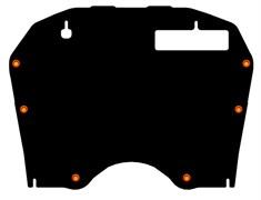 Защита картера и КПП Nissan Murano  Z51  2008-2014