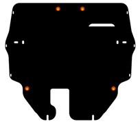 Защита картера и КПП  VolkswagenPoloV/ Polo Sedan большая  2010-2015-